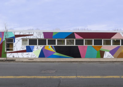 The finished mural at 395 Western Ave. Photo by Jeremy Fraga