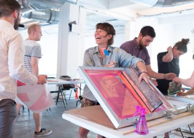 Jessie + Katey's Screenprinting Workshop at Zone 3